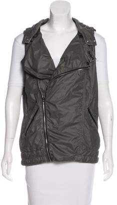 G-Star RAW Distressed Hooded Vest