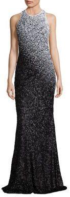 Carmen Marc Valvo Ombre Sequin Gown $1,195 thestylecure.com