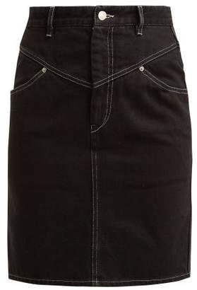 Isabel Marant Lorine Denim Pencil Skirt - Womens - Black