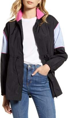 Ten Sixty Sherman Cinched Colorblock Windbreaker Jacket
