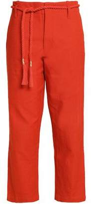 Antik Batik Belted Cotton-Canvas Straight-Leg Pants