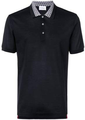 Salvatore Ferragamo patterned collar polo shirt