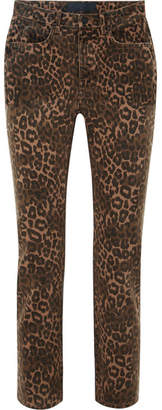 Alexander Wang Leopard-print Mid-rise Skinny Jeans