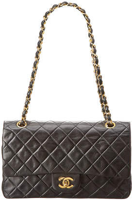 Chanel Black Quilted Lambskin Leather Reissue 2.55 Medium Double Flap Bag