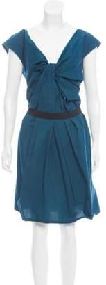 Lanvin Belted Knee-Length Dress Blue Belted Knee-Length Dress