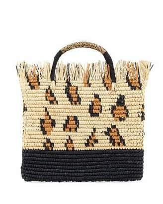 Sensi Studio Canasta Mexicana Leopard Tote Bag