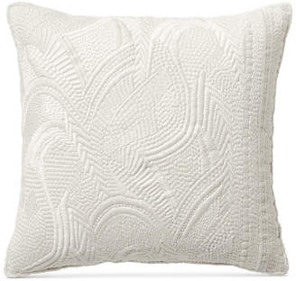 "Lucky Brand Heavy Embroidered 16"" Square Decorative Pillow Bedding"