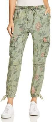 Pam & Gela Floral Print Cargo Pants