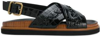 Tod's crossover strap sandals
