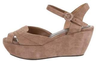 Marni Suede Platform Wedge Sandals