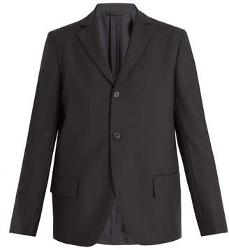 Acne Studios Lund Single Breasted Wool Blend Blazer - Mens - Black
