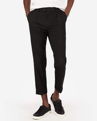 Express Pleated Cropped Dress Pant