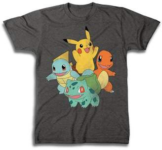 Pokemon Gaming Vintage-Style Group Shot Big Men's Short Sleeve T-Shirt
