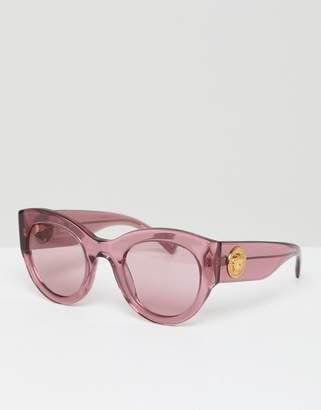 Versace Cat Eye Sunglasses In Pink