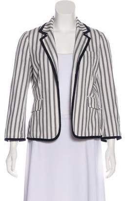 Tory Burch Striped Open-Front Blazer