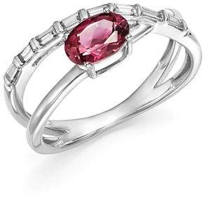 Bloomingdale's Pink Tourmaline & Diamond Crossover Ring in 14K White Gold - 100% Exclusive