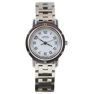 Hermes Clipper White Steel Watches