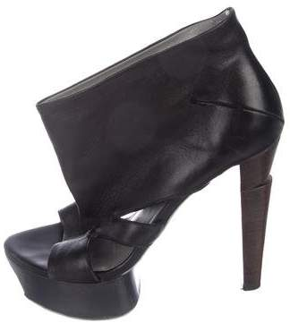 CNC Costume National Leather Cutout Booties