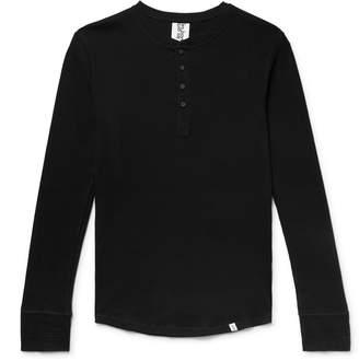Les Girls Les Boys - Ribbed Stretch-Cotton Jersey Henley T-Shirt - Men - Black