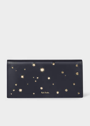 Paul Smith Women's Navy 'Gold Star' Leather Tri-Fold Wallet