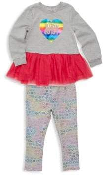 Juicy Couture Baby Girl's Two-Piece Tutu Peplum Sweater & Leggings Set