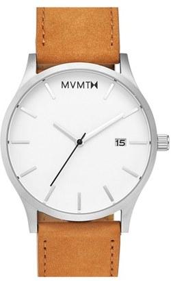 Men's Mvmt Leather Strap Watch, 45Mm $95 thestylecure.com