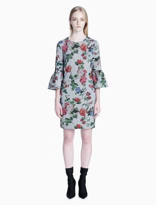 Calvin Klein floral 3/4 sleeve sheath dress