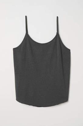 H&M Slub Jersey Camisole top - Dark gray - Women