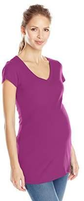 Ingrid & Isabel Women's Maternity Short Sleeve V-Neck Tee