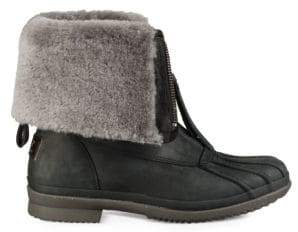 UGG Arquette Piedmont Fur-Trimmed Leather Boots