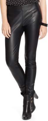 Ralph Lauren Panelled Faux-Leather Legging