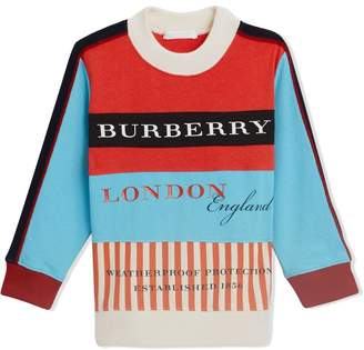 Burberry logo colour-block sweater