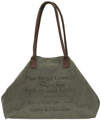 Vintage Addiction Pine Street Grocery Label Expandable Canvas Tote