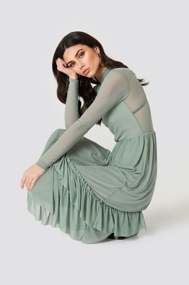 Na Kd Trend Mesh Frill Dress