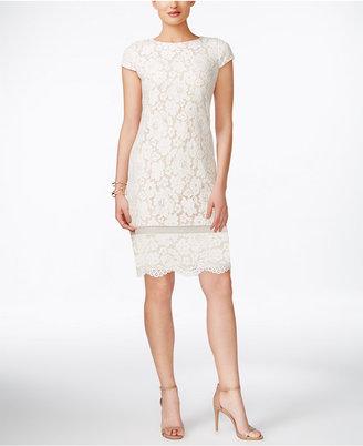 Vince Camuto Cap-Sleeve Lace Sheath Dress $148 thestylecure.com