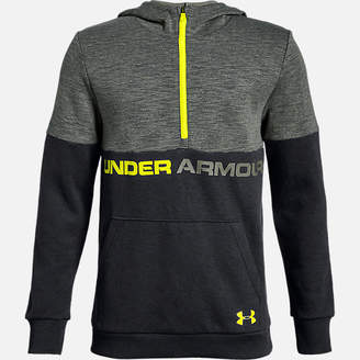Under Armour Boys' Double Knit Half-Zip Hoodie
