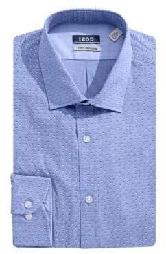 Izod Slim Fit Shadow Dot Dress Shirt