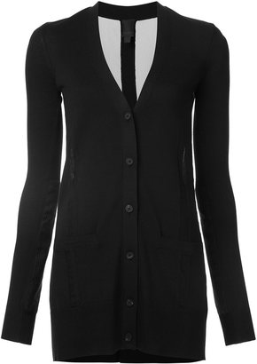Vera Wang tulle insert cardigan $895 thestylecure.com