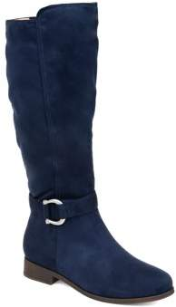 Brinley Co. Womens Comfort Extra Wide Calf Classic Riding Boot