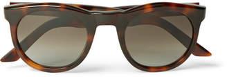 Kirk Originals Harvey Round-Frame Tortoiseshell Acetate Sunglasses