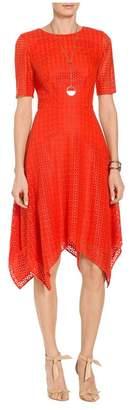 St. John Geo Motif Lace Dress