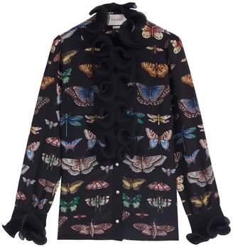 Gucci Butterfly Silk Shirt