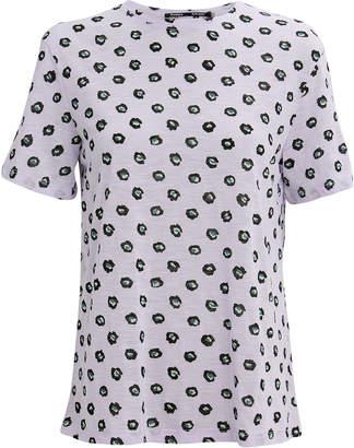Proenza Schouler Lavender Floral Tissue T-Shirt