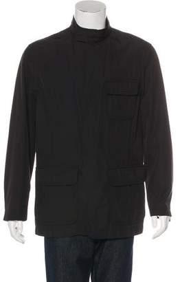 Armani Collezioni Woven Snap-Front Jacket