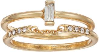 Lauren Conrad Simulated Crystal Solitaire & Band Ring Set