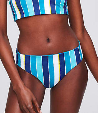 LOFT Beach Striped Reversible Hipster Bikini Bottom