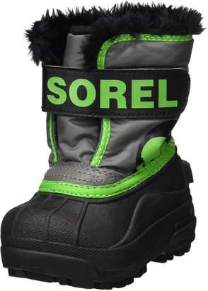 Sorel Baby Snow Commander, Quarry, Cyber Green, 6 M US Toddler