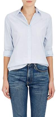 Barneys New York WOMEN'S STRIPED COTTON POPLIN BUTTON-DOWN BLOUSE