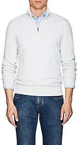 Fioroni Men's Duvet Cashmere Half-Zip Turtleneck Sweater - Lt. Blue