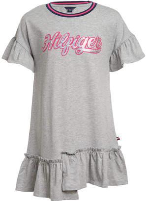Tommy Hilfiger Toddler Girls Ruffled Logo-Graphic Dress